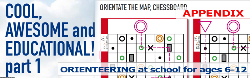 Orienteering at school for ages 6-12: APPENDIX: Orientate the map, chessboard