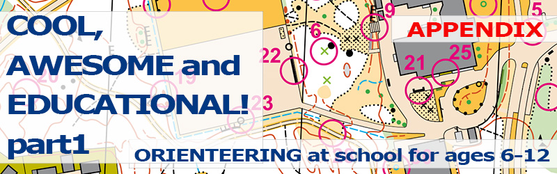 Orienteering at school for ages 6-12: APPENDIX: Exercise - Five Symbols Enlarged
