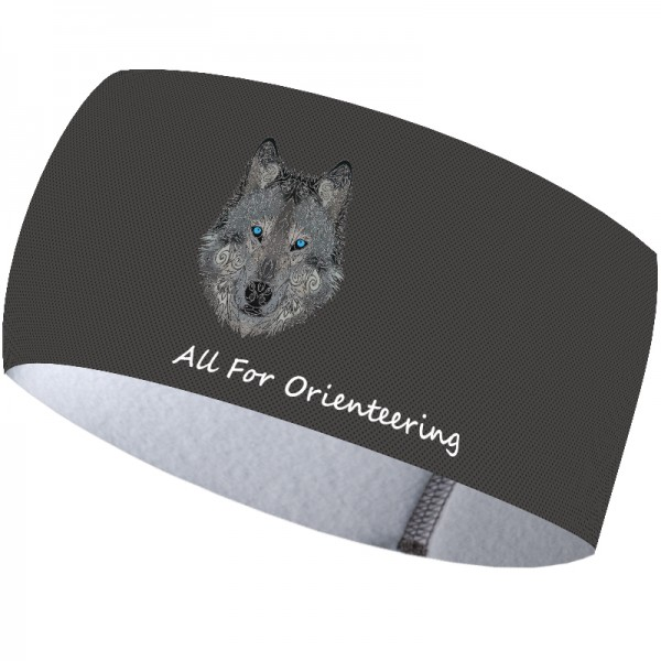Galaxy Wolf Blue Eyes headband