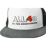 ALL FOR ORIENTEERING TRUCKER CAP, White-Black-Grey