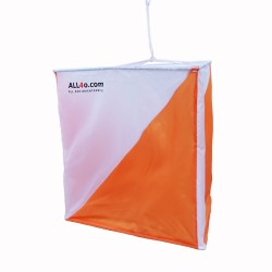 Orienteering Control flags (9-Pack) with ALL4o logo, 30 x 30cm