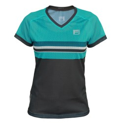 FRENSON O-DIVISION Women's mesh orienteering shirt, Teal