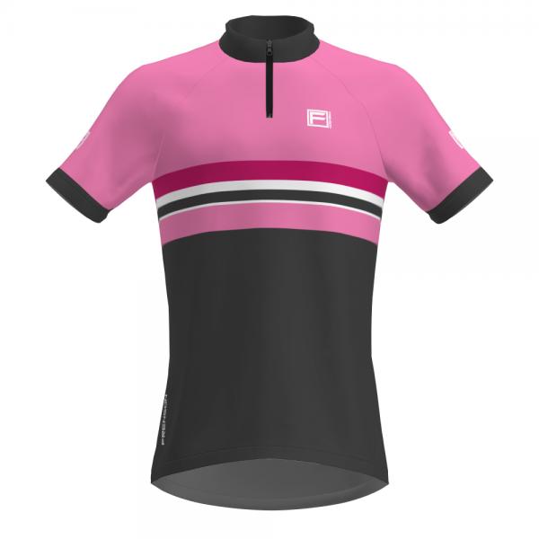 FRENSON PRO SERIES Women's O-Shirt, Pink/Dark Grey
