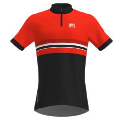 FRENSON PRO SERIES Men's O-Shirt, Red/Dark Grey