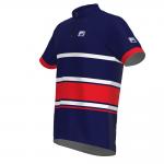 FRENSON PRO SERIES Men's O-Shirt, White Stripes/Red