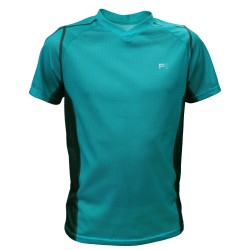 FRENSON O-DIVISION KIDS mesh orienteering shirt, Blue Green
