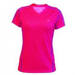 FRENSON O-DIVISION Women's mesh orienteering shirt, Magenta