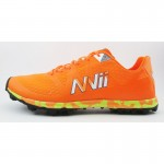 NVII CRAZY LIGHT F1 orienteering shoes, with metal spikes, Orange/Black/Yellow