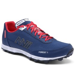 NVII FOREST 1 orienteering shoes, with metal spikes, Blue/Golden/Red