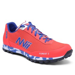 NVII FOREST 2 orienteering, trail running shoes, Orange/Blue