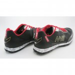 NVII FOREST 1 orienteering shoes, with metal spikes, Black/Golden/Red