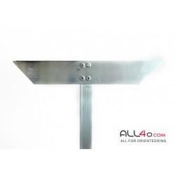 Orienteering control stand, aluminium