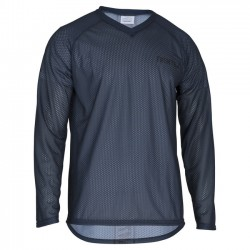 Trimtex O-Shirt basic LS steel blue