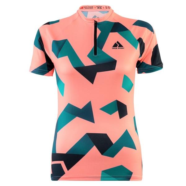 TRUE STORY women's Elite o-shirt, Azure Peach