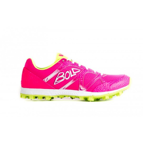 VJ Bold Ruby Special Edition orienteering shoes, with metal spikes
