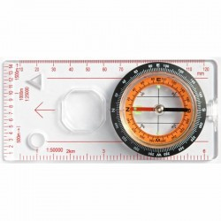 Baseplate compass with ruler and magnifier