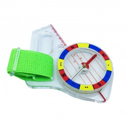 Challenger thumb compass for orienteering and hiking
