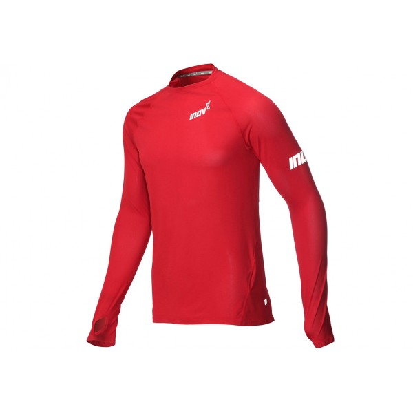 Inov-8 AT/C LONG SLEEVE BASE LAYER, M Red