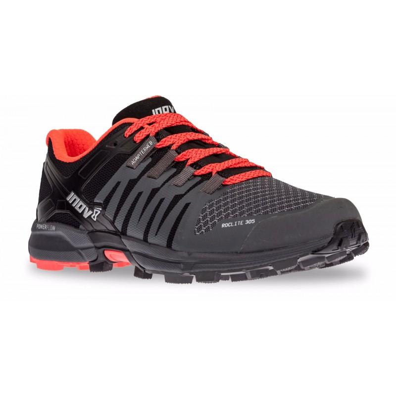 the latest 1821f 88a46 Inov-8 ROCLITE 305 chaussures, femme, Grey/Black/Coral ...