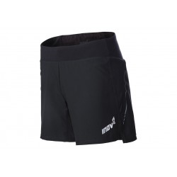 "Inov-8 RACE ELITE 6"" Trail Short for Men, Black-Red SS19"
