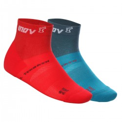 INOV-8 ALL TERRAIN SOCK MID, Red/Blue Green (Double pack)
