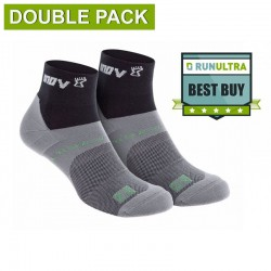 INOV-8 ALL TERRAIN SOCK MID, Black - Grey (DOUBLE PACK)