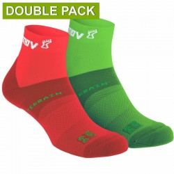 INOV-8 ALL TERRAIN SOCK MID, Green - Red (Double Pack)