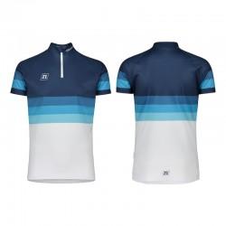 NONAME WS COMBAT UX 20 unisex orienteering shirt, white navy gradient