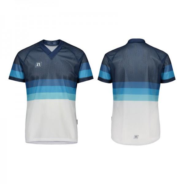 NONAME WS O-TOP UX 20 unisex orienteering shirt, White Navy Gradient