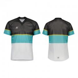 NONAME WS O-TOP UX 20 unisex orienteering shirt, White Teal Black