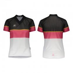 NONAME WS O-TOP WO'S 20 women's orienteering shirt, white pink black