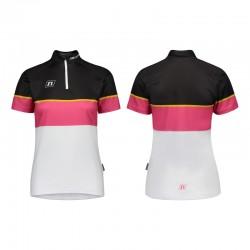 NONAME WS COMBAT UX 20 women's orienteering shirt, white pink black