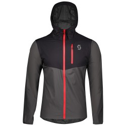 SCOTT TRAIL RUN WB LIGHT W/HOOD Men's jacket, black/dark grey