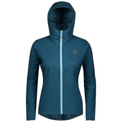 SCOTT TRAIL RUN WB LIGHT W/HOOD Women's jacket, lunar blue
